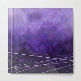 Abstract Purple Metal Print