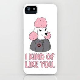 Pissed Poodle iPhone Case