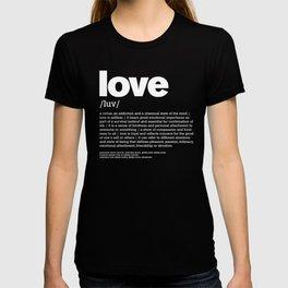 Define LOVE w/b T-shirt