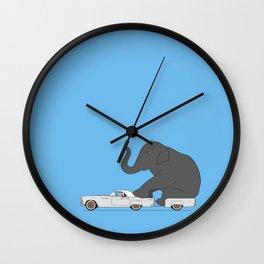 Thunderbird with elephant Wall Clock