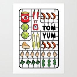 Tom Yum Assembly Kit Art Print