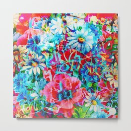 poppies and daisies with asiatic feel Metal Print