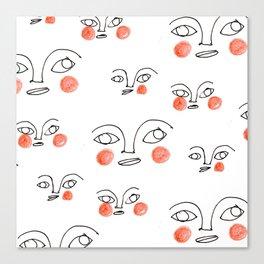 les visages I Canvas Print