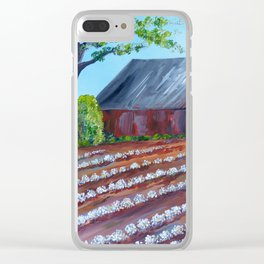 Rows of Cotton Clear iPhone Case