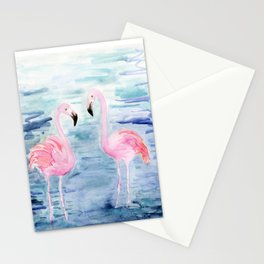 flamingo loves Stationery Cards