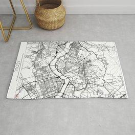 Seoul Map White Rug
