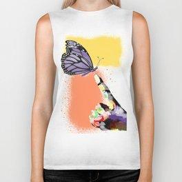 Come here sweet butterfly Biker Tank