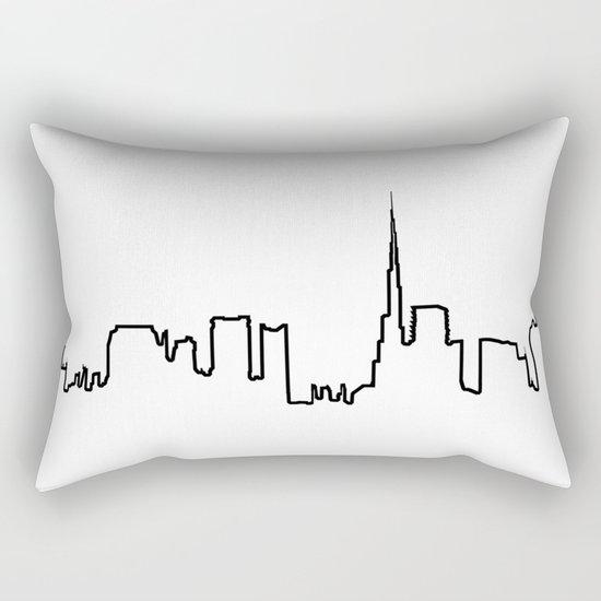 Dubaï Life Line - N°2 Rectangular Pillow