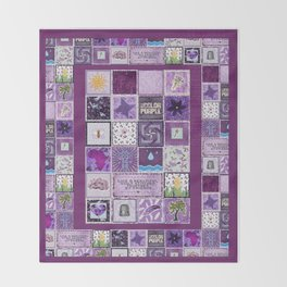 The Color Purple Quilt Throw Blanket
