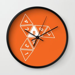 Unrolled D8 Wall Clock