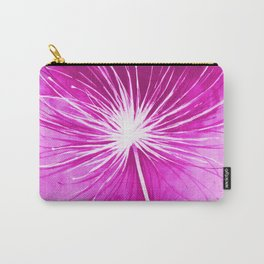 Flying dandelion parachute seeds illustration - painting with watercolors Carry-All Pouch