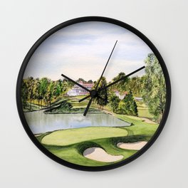 The Congressional Golf Course 10th Hole Wall Clock