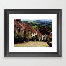Gold Hill, Dorset Framed Art Print