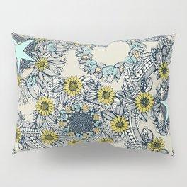 cirque fleur stone aqua star Pillow Sham