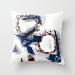 Abstract blue Throw Pillow