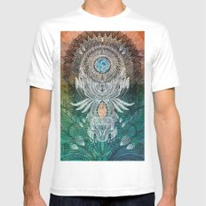 Watching Over Us White Mens Fitted Tee MEDIUM