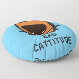 Bad Cattitude Floor Pillow