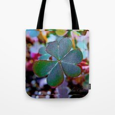Heart clover Tote Bag