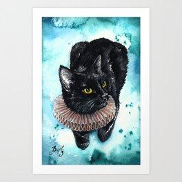 An Elegant Ruff Art Print
