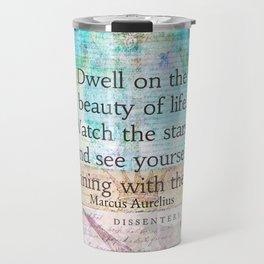 Marcus Aurelius life quote Travel Mug