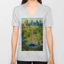 """Hieronymus Bosch """"The Garden of Earthly Delights"""" - The Heaven or The Creation Unisex V-Neck"""