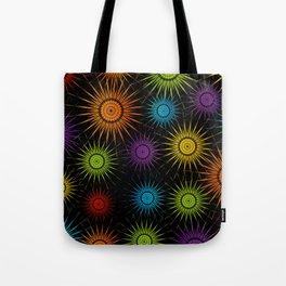 Colorful Christmas snowflakes pattern- holiday season gifts Tote Bag