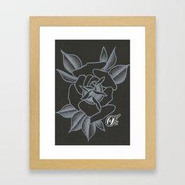 WhiteRose Framed Art Print
