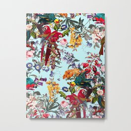 Floral and Birds XXXIV Metal Print