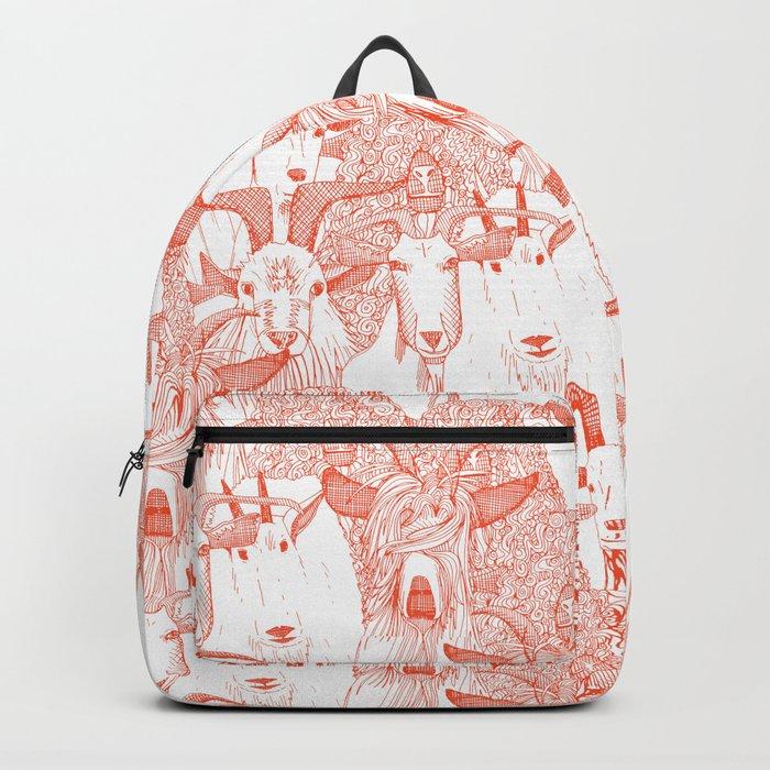 just goats flame orange Backpack