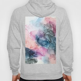 Heavenly Pastels: Original Abstract Ink Painting Hoody