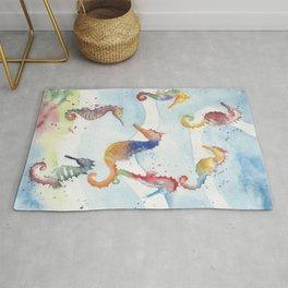 Colorful Seahorses Rug