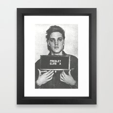 Elvis Mug Framed Art Print