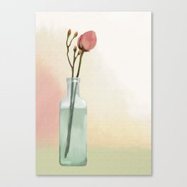 Flowers in Glass Canvas Print