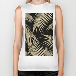 Gold Palm Leaves Dream #2 #tropical #decor #art #society6 Biker Tank