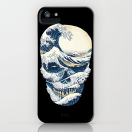 The Great Wave off Skull iPhone Case