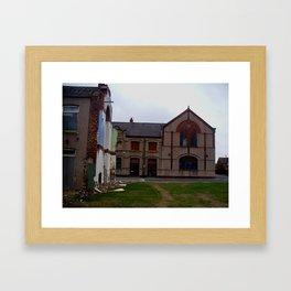 broken housing Framed Art Print