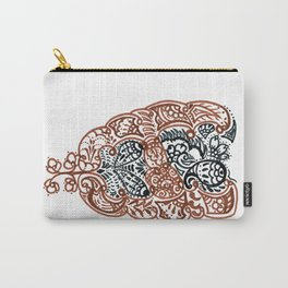"""23. Henna Letters of the Alphabet """" A """" Carry-All Pouch"""