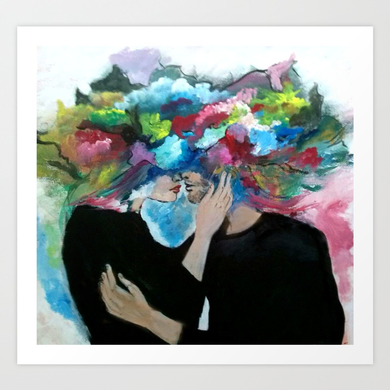 Love Explosion Art Print By Margaritanaka Society6