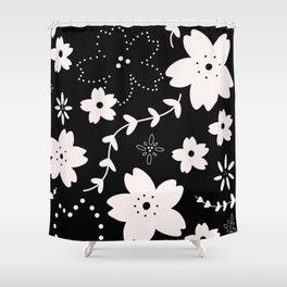 Dark Sakura 2018 Shower Curtain