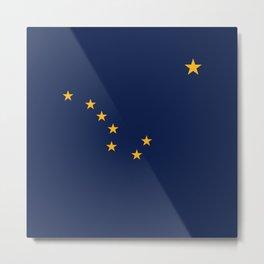 Flag of Alaska - Alaskan Flag Metal Print