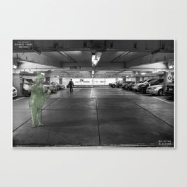 Unseen Monsters of Melbourne - Dobbie Nobbing Canvas Print