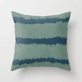 Big Green and Navy Stripes Throw Pillow