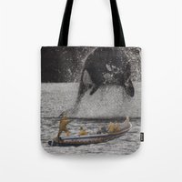 orca Tote Bags featuring Orca by Lerson