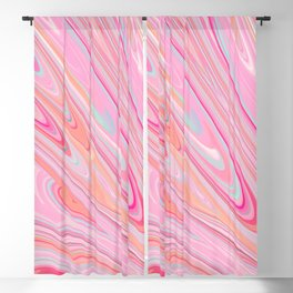 Abtract Melted Ice Cream Blackout Curtain