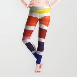 Happy Color Stripes Leggings