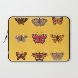 Butterflies Mounted on Yellow Laptop Sleeve