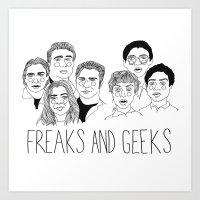 cactei Art Prints featuring Freaks and Geeks by ☿ cactei ☿