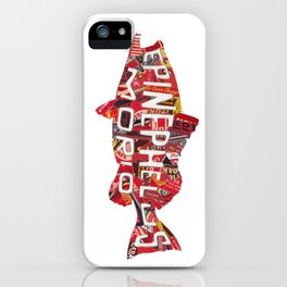 Red Grouper - vintage collage iPhone Case