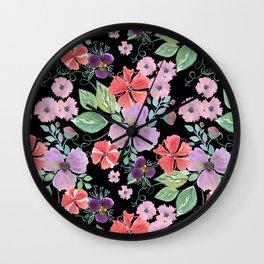 Floral pattern 8 Wall Clock