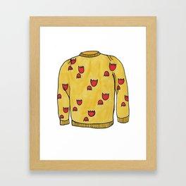Season 2, Episode 21 (full sweater) Framed Art Print